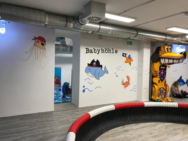 Babyhöhle baby area at Räuberhöhle