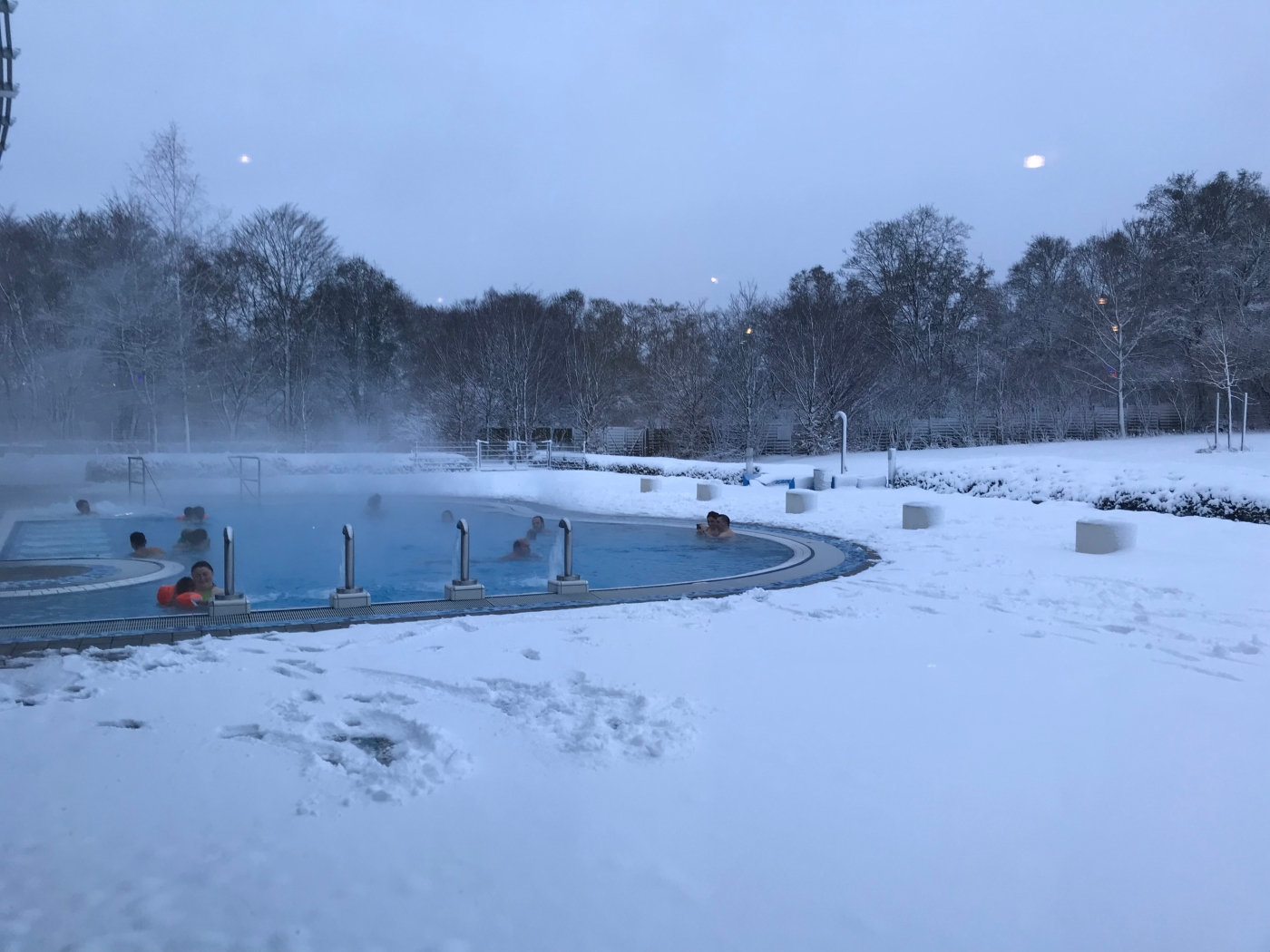 westbad outdoor pool in winter - westbad munich